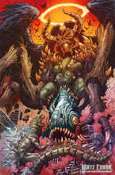 Godzilla Neo VS The Devil by KaijuSamurai
