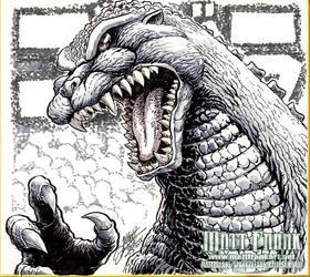 Tokyo Comic Con 2018 - Godzilla 1991 Sketch by KaijuSamurai