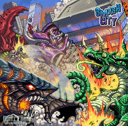 Smash City Box Art by KaijuSamurai