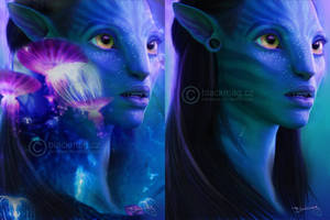 Neytiri, Avatar - painting by perlaque