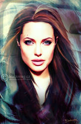 Angelina Jolie Painting by perlaque