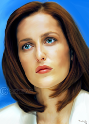 Dana Scully Painting by perlaque