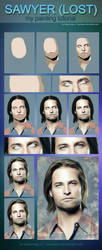 Sawyer (lost) painting tutorial by perlaque