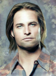 Sawyer (lost) painting by perlaque