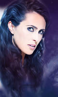 Sharon den Adel, Painting by perlaque