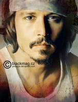 Johnny Depp Digital Painting by perlaque