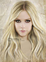 Avril Lavigne new painting by perlaque