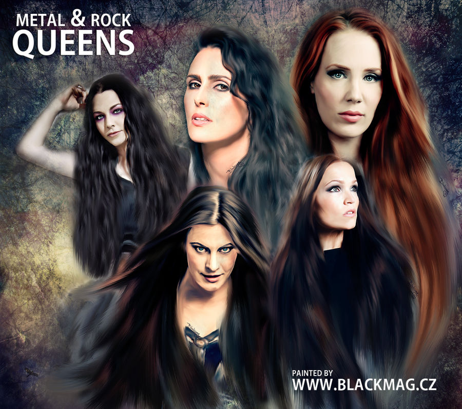 metal and rock  Queens - digital painting by perlaque
