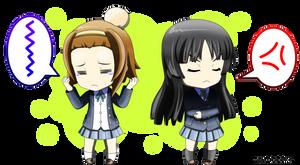 Chibi: Ritsu and Mio by Su-uX