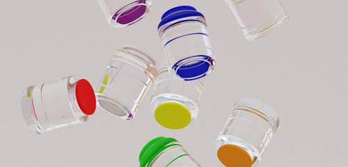 glass jars by Bastiensburg
