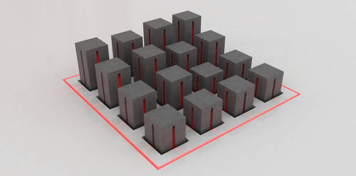 red in cuboids by Bastiensburg