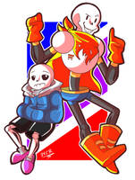 Sans and Papyrus by DoodleDone