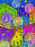 -Dandelions-Dientes de leon- Color by Inkolored