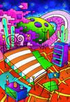 -Room in Titan-Habitacion en Titan- Color by Inkolored