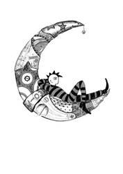 -The moons mechanic-El mecanico de lunas- by Inkolored