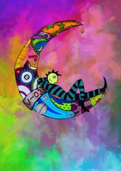 -The moons mechanic-El mecanico de lunas- Color by Inkolored