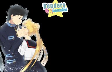 Seiya y usagi | Render Sailor Moon by Haanakko