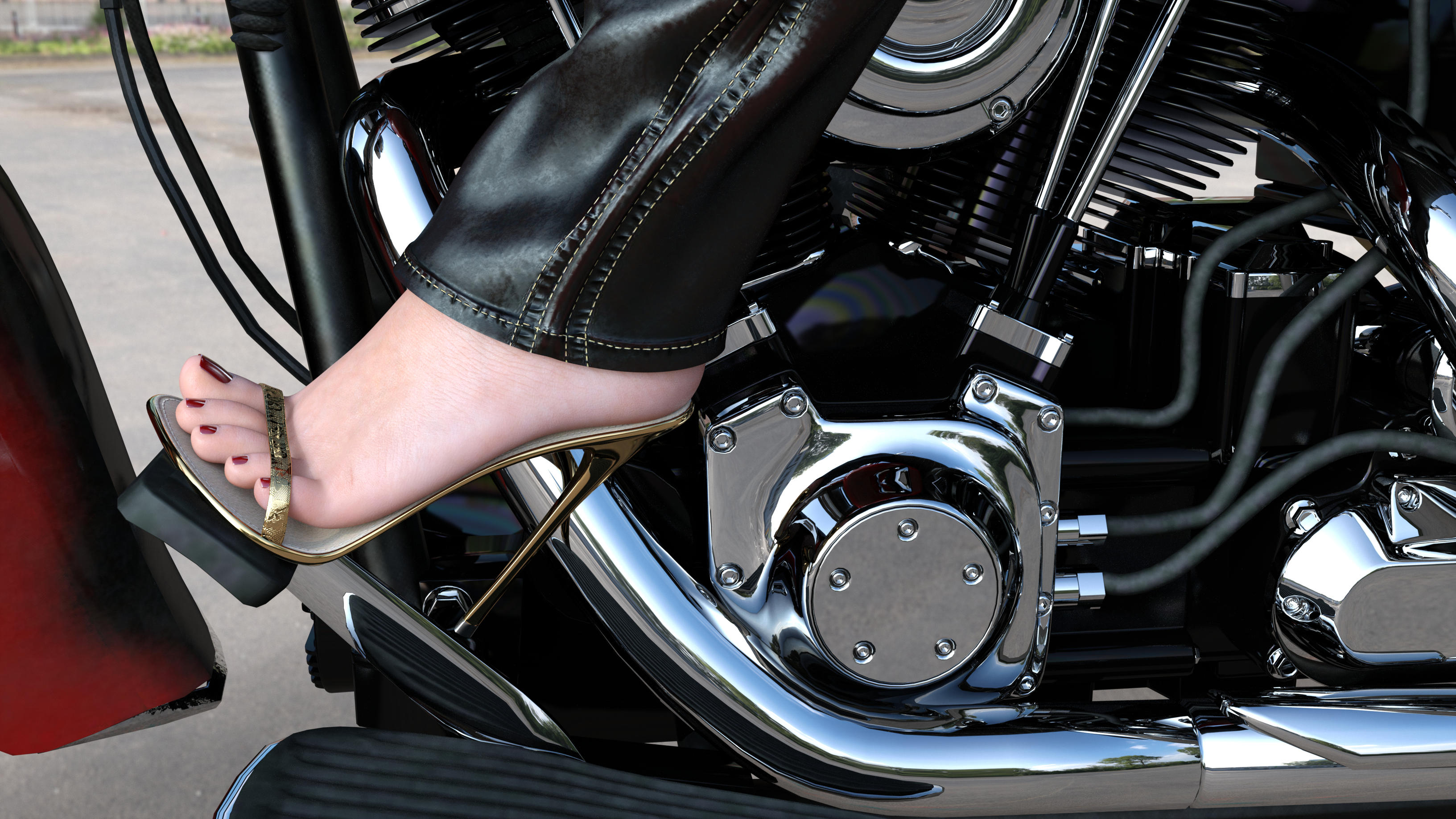 Female pedal pumping