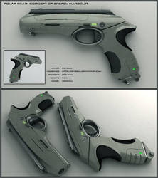 Polar Bear - scifi handgun by peterku