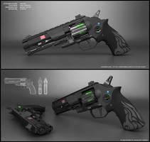 Nova - sci fi revolver concept by peterku