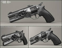 Jaw - concept of sci fi handgun by peterku