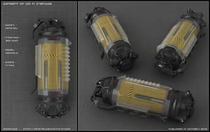 Sci-fi Grenade concept by peterku