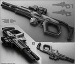 TOM - Concept of futuristic shotgun by peterku