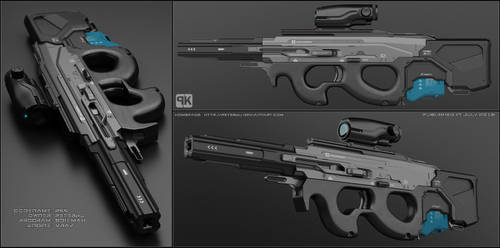 P99 - sci fi rifle by peterku