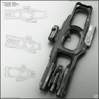 Fork - concept of sci fi gun by peterku