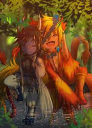 Commission: Sil and Kyoi by DarkxZero23