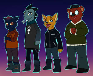 Night in the woods by Snail-Duck
