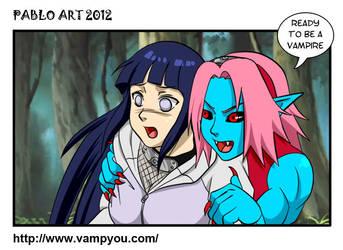 SakuHina Vampires by locofuria