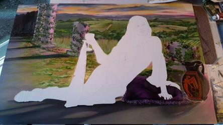 Greek Goddess WIP2 by NicoleBrune