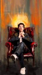 Sitting Benedict by WisesnailArt