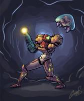 Samus VS Metroid by salzakeys