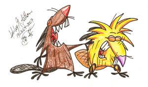 Angry Beavers by joshin-yasha
