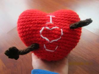 I heart you Crochet by neonjello17