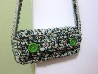 Crochet Plush Clutch by neonjello17