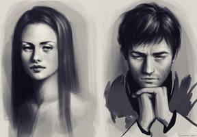 speedpaint portraits by fdasuarez