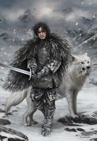 Jon Snow by fdasuarez
