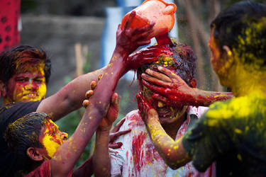 Bloody Holi by zosogis