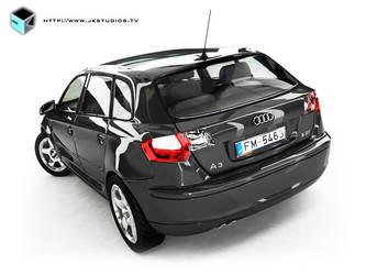 Audi A3 - 3ds Max - Vray - 2 by JK-Studios
