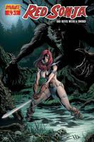 Red Sonja 43 Cover by JacksonHerbert