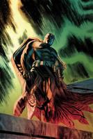 Batman - The Dark Knight (colors) by JacksonHerbert