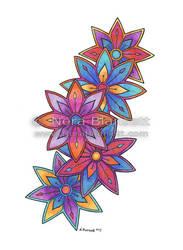 Floral Henna Design by NoraBlansett