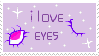 i love eyes stamp by softpuppie