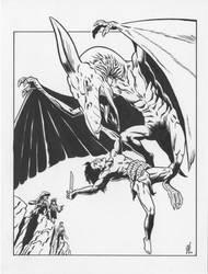 Pteranodon vs. Tarzan by NeilRiehle