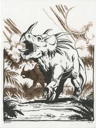 Styracosaurus by NeilRiehle