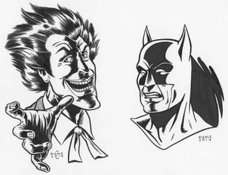 Joker Batman by NeilRiehle