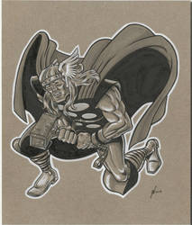 Thor on Cardboard by NeilRiehle